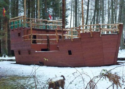 Finlaystone pirate ship is now finished