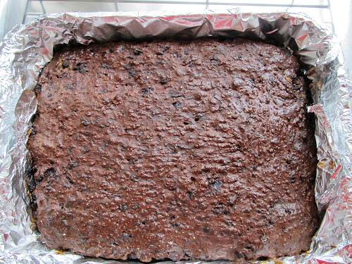 Liver cake just out of the oven!