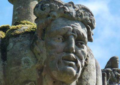 A stone face!