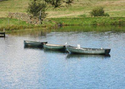 Fishing boats in the Knapps Loch!