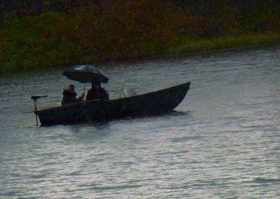 Fishing in the rain!