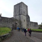 Visitors entering Mugdock castle!
