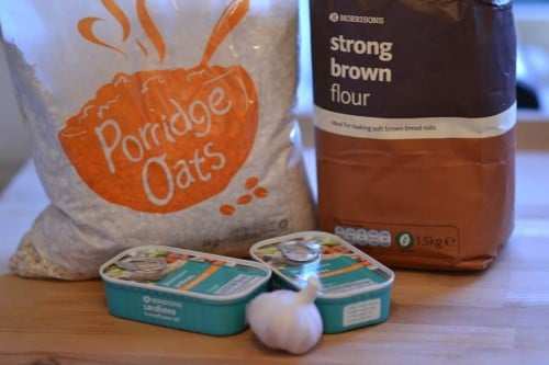 sardine oatcake recipe ingredients