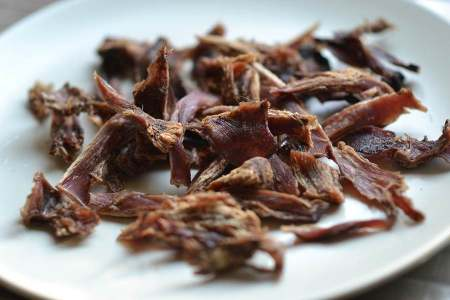 dehydrated rabbit jerky