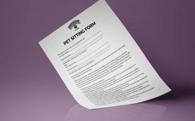 Free pet sitting contract
