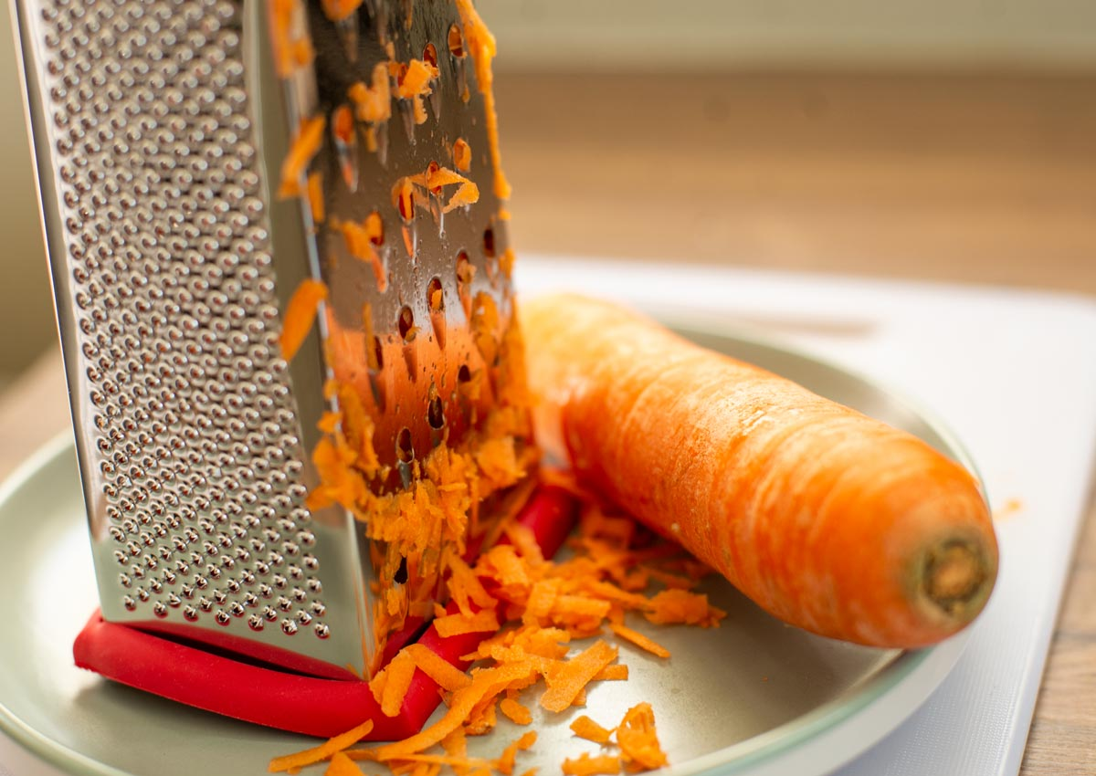 grate 2 large carrots